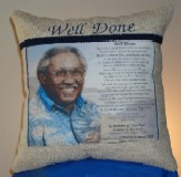 Embroidered Memorial Pillow